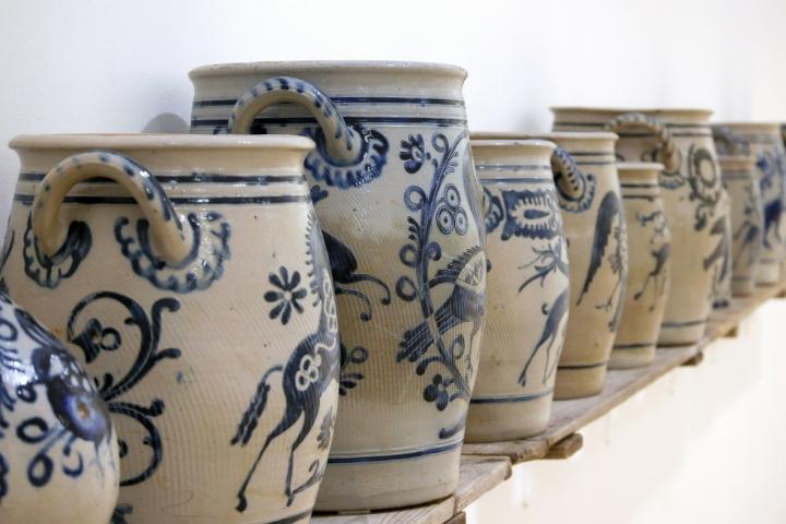 keramikmuseum, hollandgänger, steinzeug, graublau, salzbrand, westerwald