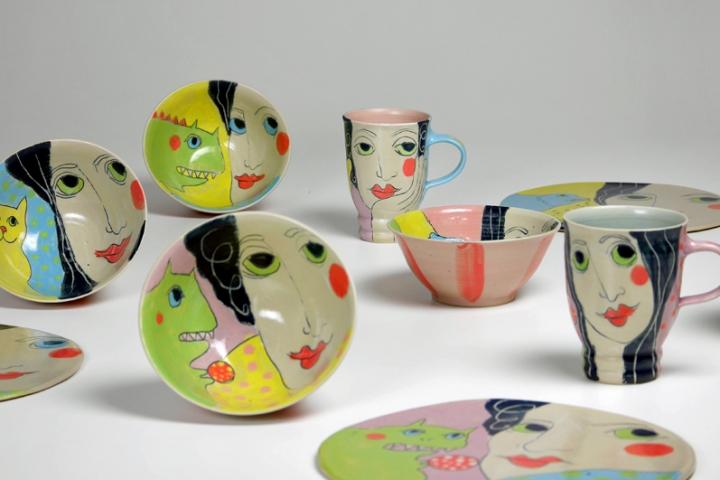 Keramikgeschirr von Tine Angerer