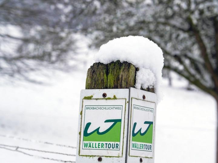 Winterlandschaft rund um Höhr-Grenzhausen und den Westerwald