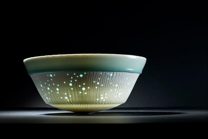 Porzellangefäß des Keramikers Fritz Rossmann