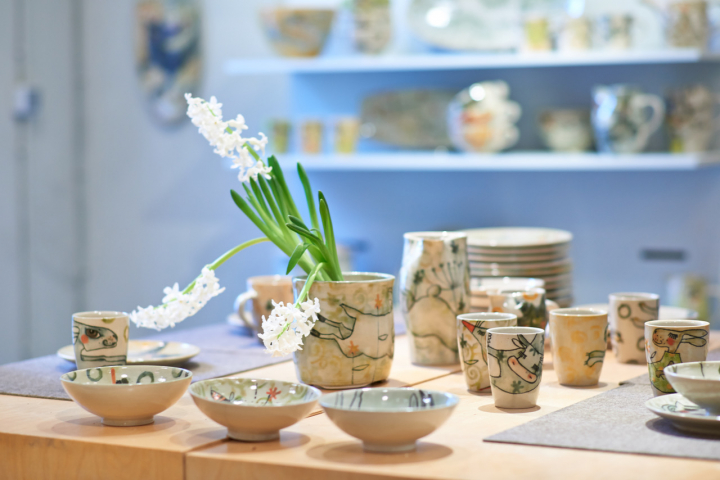 Keramikgeschirr aus der Werksatt Meyer & Matschke. Keramikwerstatt Kaas & Heger beteiligen sich an den Europäische Tage des Kunsthandwerks