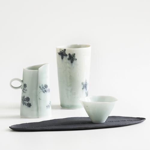 Geschirrserie aus dem Porzellanatelier Claudia Henkel
