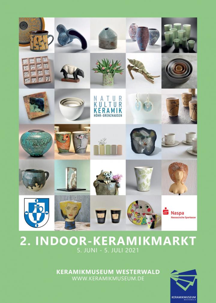 Plakat 2. Indoor-Keramikmarkt